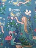 Be you - Ansichtkaart Wendytekent