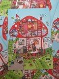 Kabouterhuisje - Ansichtkaart Wendytekent
