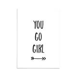You go girl - Ansichtkaart_
