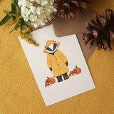 Regenachtige Herfstdag - Ansichtkaart_