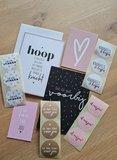 'Hoop en Liefde' Kaarten- en Stickersetje
