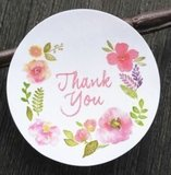 Thank You Floral 30 stuks - Stickers_