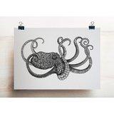 Ansichtkaart I bamboe - octopus_