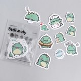 Schattige Draakjes / Dino's - Zakje Stickers_