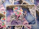 Zebra Ballonnen Straatkunst - Ansichtkaart_