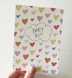 """A6 postkaart """"Boy hearts"""" / """"Girl hearts""""_"""