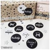 Hoera een baby - Stickers - Set van 10_