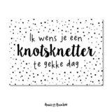 Ik wens je een knotsknetter te gekke dag - Ansichtkaart_
