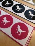 Sluitstickers T-rex Goudkleurig - 4 stuks_