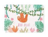 Big hug Luiaard met kleintje - Ansichtkaart_