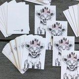 Leeuwtje Roze - Minikaart_