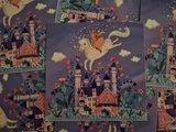 Prinses op Paard - Ansichtkaart vierkant_