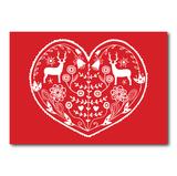 Folk Heart - Ansichtkaart_