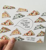 I like you more than pizza - Ansichtkaart_