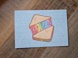 Love Regenboog Tosti - Ansichtkaart_