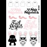 Star Wars No Shit Stickervel A6-formaat_