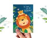 'Ik vind jou de liefste' Leeuwen - Ansichtkaart