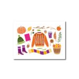 Herfst Accessoires - Ansichtkaart