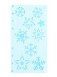 Stencil Sneeuwvlokken en Sterren_
