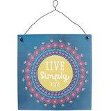'Live simply' Metalen Bordje Decoratie _