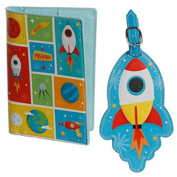 Astronaut Paspoorthoesje & Kofferlabel Set