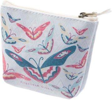 Vlinder Butterfly PVC Kleingeld Beursje of Mini Makeup Tasje