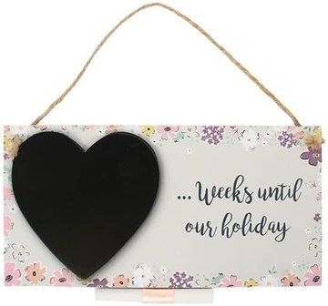 Holiday Countdown Plaque Krijtbord Vakantie Reizen