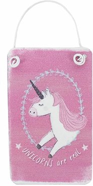 Mini Pink Unicorn Metal Sign Bordje Eenhoorns Are Real