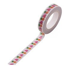 Ananas Watermeloen Smalle Washi Tape - 10M