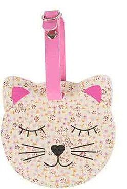 Floral Friends Cat Bagage Label CREME