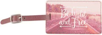 Wanderlust 'Be wild and free' Luggage Tag Bagage Label