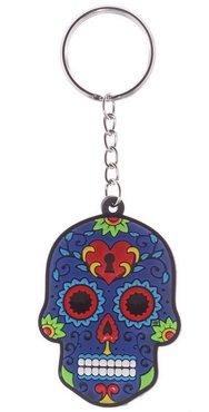 Blauwe Mexicaanse Schedel Sleutelhanger