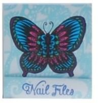Blauwe Vlinder Nagelvijltjes Boekje