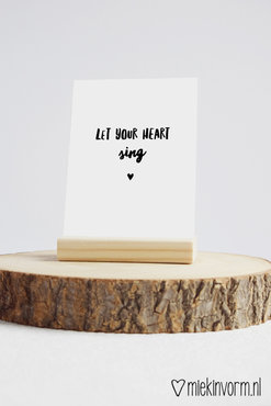 'Let your heart sing' Ansichtkaart