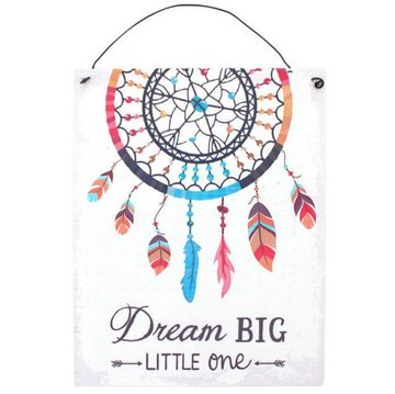 'Dream big little one' Metalen Bord Dromenvanger