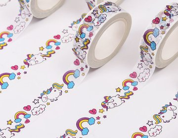 Eenhoorn Illustratie Washi Tape in Doosje - 10M