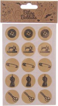 Naaigerei Stickers - 4 velletjes van 15 stuks