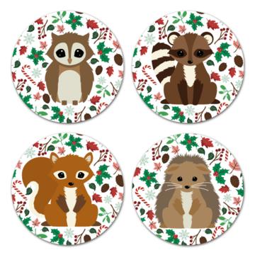 Kerst Stickers Seasons Oktoberdots - 4 stuks