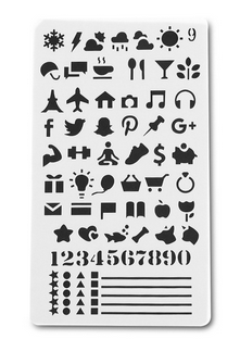 Stencil Iconen en Getallen