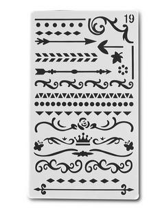 Stencil Lijnen en Decoratie