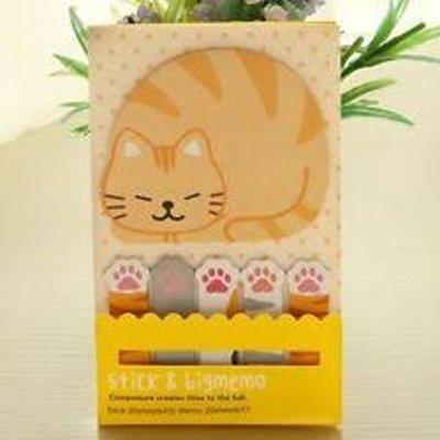 Kat Memo Stick & Big memo Pootjes en Slapende kat