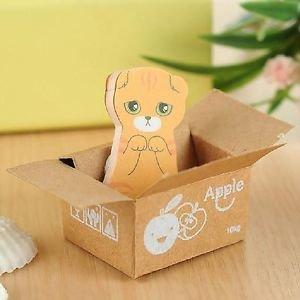 Kat in Doosje Oranje / Rood Memo