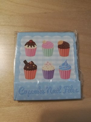 Blauwe Cupcake Nagelvijltjes Boekje
