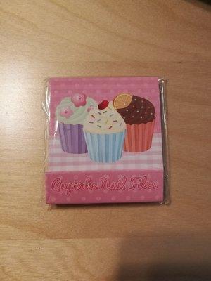 Roze Cupcake Nagelvijltjes Boekje