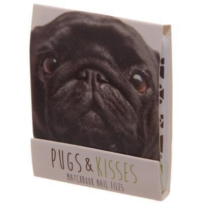 Zwarte Pug Mopshond Nagelvijltjes Boekje