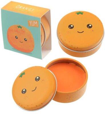 Sinaasappel Kawaii Gezichtje Lippenbalsem