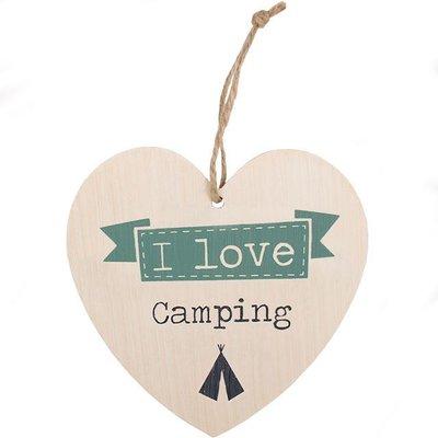 I Love Camping Hart Bordje