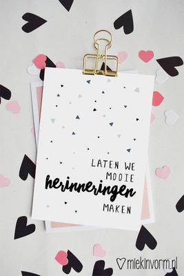 'Laten we mooie herinneringen maken' Ansichtkaart