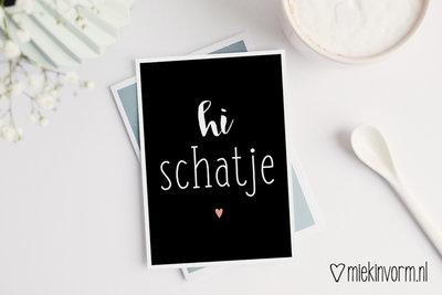 'Hi schatje!' Ansichtkaart