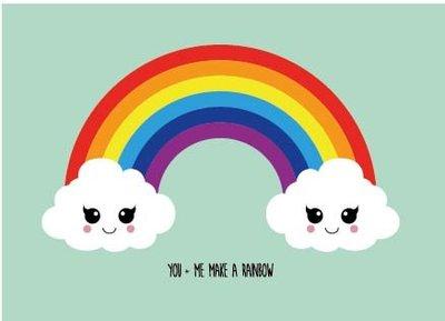 'You & me make a rainbow' Ansichtkaart